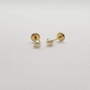 18 K Pendinetes presión perla 3