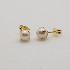 18 K Pendinetes presión perla 4