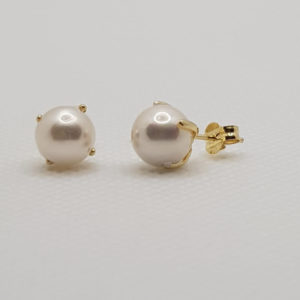 18 K Pendinetes presión perla 5